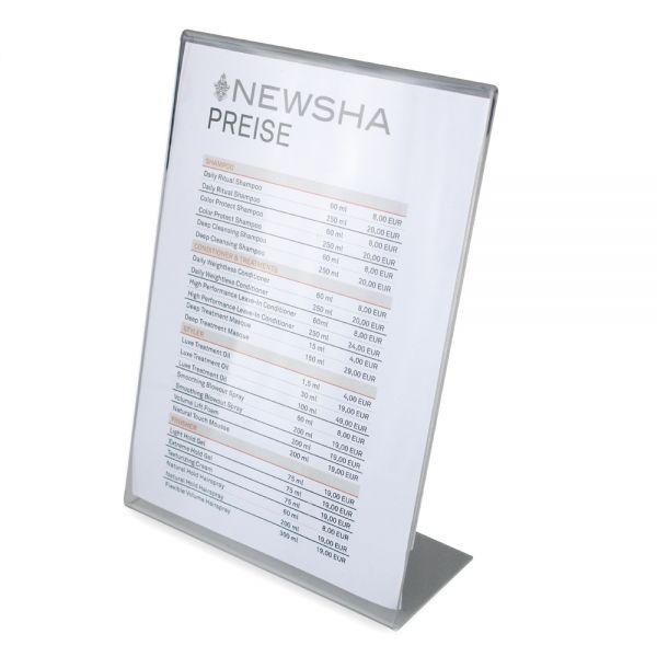 NEWSHA Aufsteller mit VK-Preisen